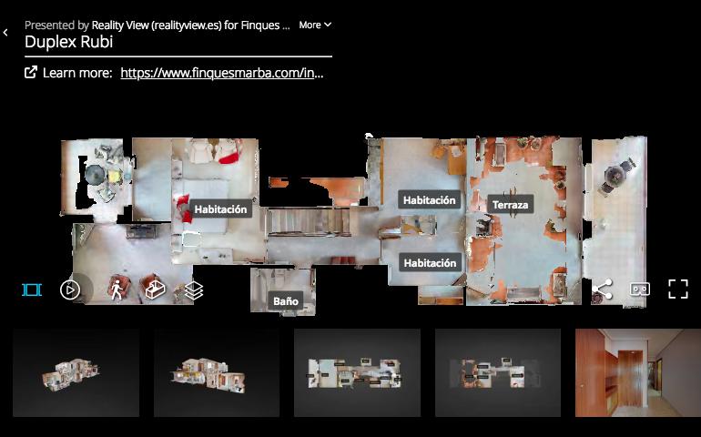 Tour virtual dúplex en Rubí - Finques Marbà