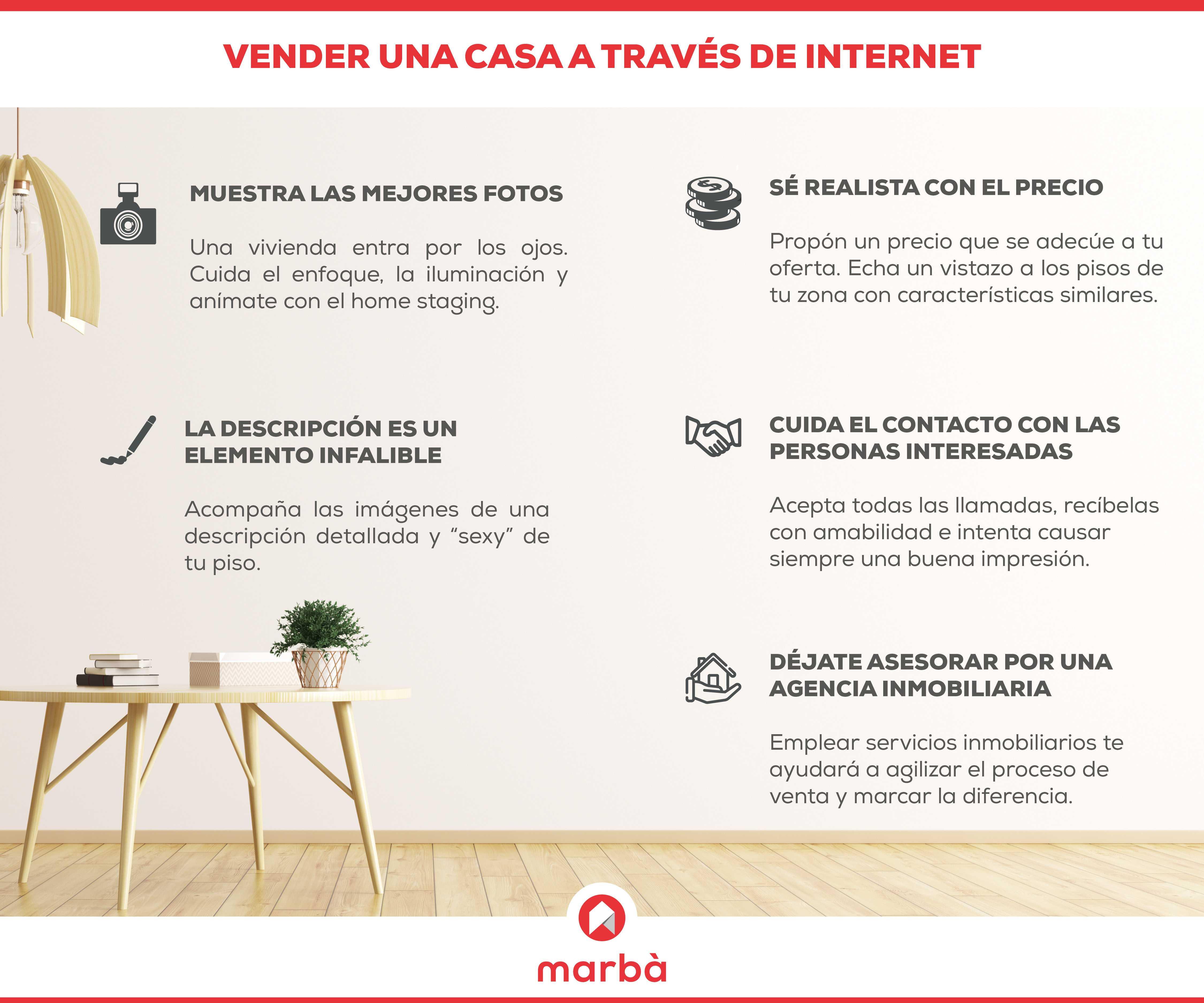 5 consejos vender casa por Internet | Marbà